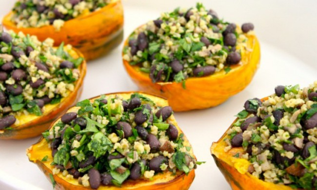 Fiesta Stuffed Acorn Squash Recipe